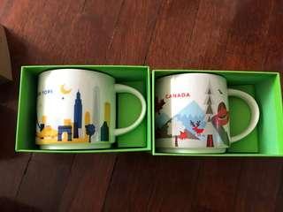 Starbucks City Mug Canada and New York