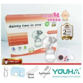 Youha Electric Single Breast Pump Dainty Two in One