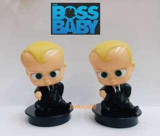 THE BOSS BABY FIGURE THEODORE TED BABY BOSS BOBBLE HEAD FIGURES TOYS 2 PCS SET