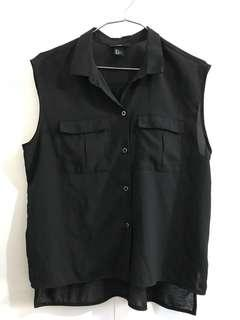 H&M Black Sleeveless Blouse