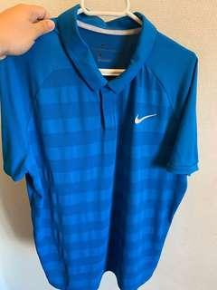 Nike Golf Zonal Cooling Polo in Blue Nebula, Size L