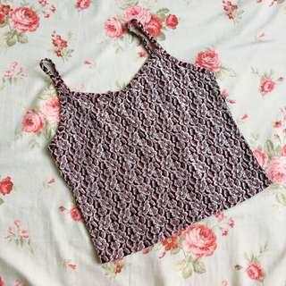 Embroidered Purple Camisole