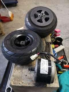 Used evo escooter wheel set