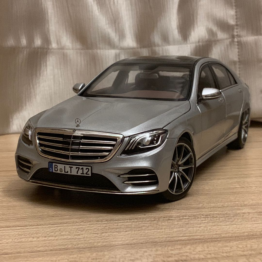 1:18 Norev Mercedes Benz S Class AMG Line (Silver Metallic