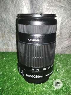 Ready Guys !!! Lensa Canon 55-250 IS II Minus Murahhhh