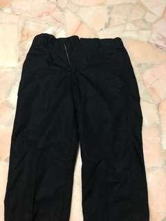 UNIQLO U Wide Tapered Pants (Black) Waist 73cm
