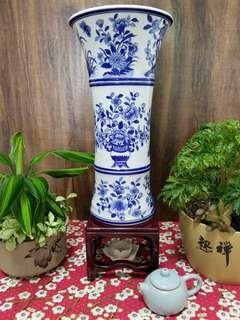 青花瓷▪竹節花瓶