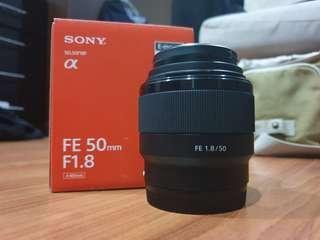 Lensa Sony FE 50mm f1.8 like new