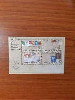 1990 Singapore 150 Years of Postage Stamp sheet from 1840 to 1990