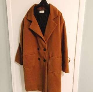 Oversized Brown Coat