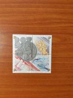 Singapore Currency Notes and Coins Stamps