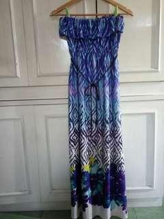 Tube Long Dress floral