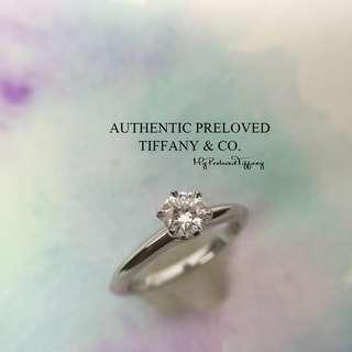 c6b0e6bb1 Mint Tiffany & Co Solitaire Diamond 0.47ct Platinum Ring H VS2 3EX PT950