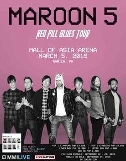 Maroon 5 Red Pill Blues Tour in Manila - Gen Ad