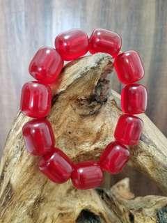紅晶▪琥珀蜜蠟[手串]