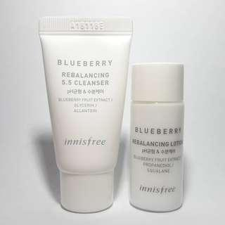 Innisfree Blueberry Rebalancing 5.5 Cleanser & Lotion Trial Size (15ml)