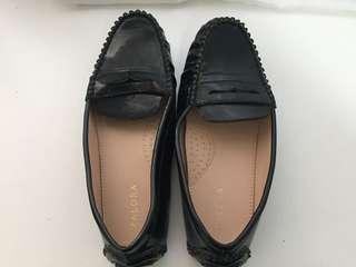 Ladies black loafers