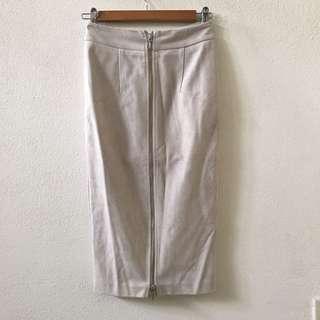 Sheike Isabella Suede Pencil Midi Skirt