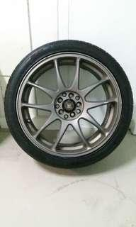 """18"""" Rims and Tyres (5× 114)"""