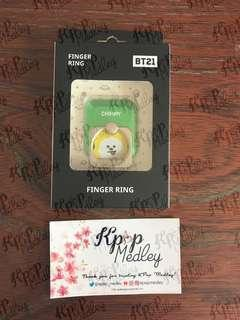 (On Hand) Official BT21 Finger Ring - Chimmy