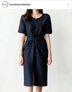 The Underground Designer ANTOINETTE dress (navy blue)