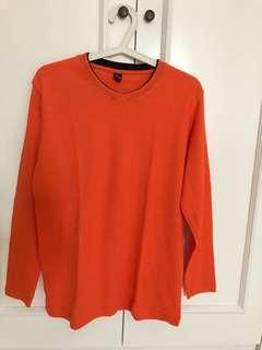 Orange long sleeves