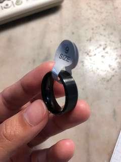 Plain black ring