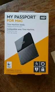 "For Mac New WD 4TB Portable HDD Hard Disk Drive My Passport Ultra 4.0 TB external Western Digital 2.5"""