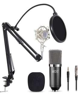 (1354) TONOR Professional Studio Condenser Microphone Computer PC Microphone Kit with 3.5mm XLR/Pop Filter/Scissor Arm Stand/Shock Mount for Professional Studio Recording Podcasting Broadcasting, Black