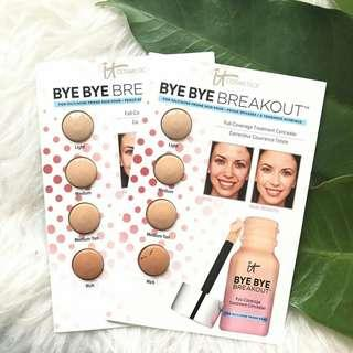 IT COSMETICS Bye Bye Breakout Full-Coverage Treatment Concealer Sample Card