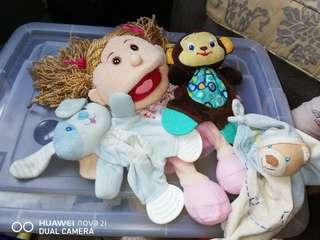 Baby toys and hand puppet