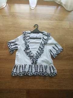 Preloved Zara Embroidered Babydoll Top
