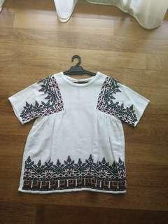 Preloved Zara Embroidered Top