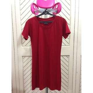 Red T-shirt Shirt Dress
