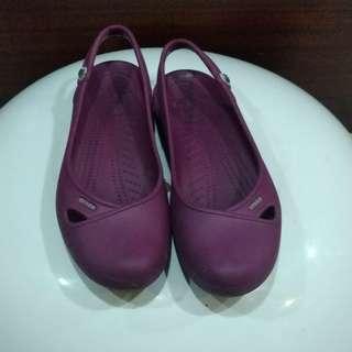 🚚 卡洛馳紫色娃娃鞋9號