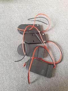 CR 2032 battery holder with on off switch