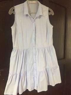 Baby Blue Summer Dress (tiered-skirt)