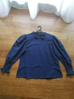 Preloved Victorian Long Sleeve Blouse