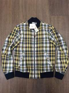 uniqlo x JW Anderson checked pattern blouson jacket 格仔拉鍊外套