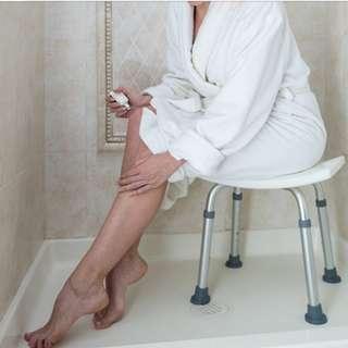 BRAND NEW SHOWER SEAT/STOOL, ADJUSTABLE HEIGHT. ANTI-SLIP