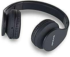 [E620] Wireless Bluetooth Over Ear Stereo Foldable Headphones,Wireless and Wired Mode Headsets with Soft Memory-Protein Earmuffs,Built-in Mic for Mobile Phone TV PC Laptop(Black)