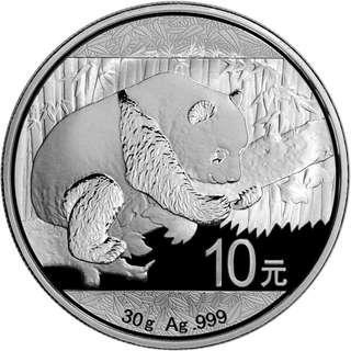 免郵費 超值 (多買有折) 現貨 2016 中國熊貓 .999銀幣30克 全新連膠盒 投資收藏首選 silver china panda