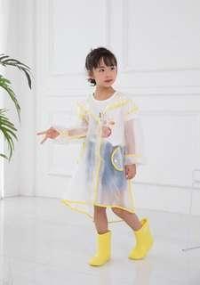 🚚 現貨全新✨黃15公分 日本兒童雨鞋 雨靴(附鞋墊) 無異味 透氣 柔軟 輕便