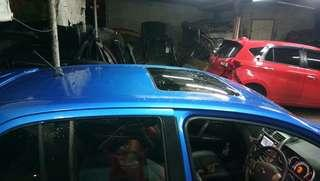 Sunroof tebuk lipat