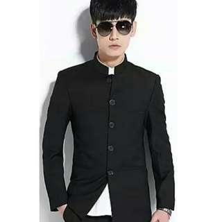 Man's men's oriental Chinese suit blazer jacket