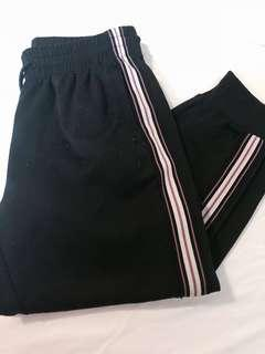 Black Joggers with Stripes