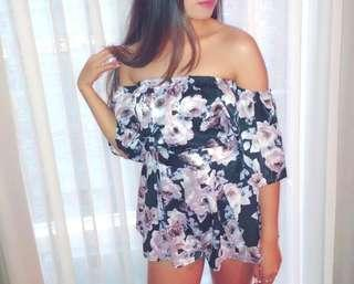Floral Set (Off Shoulder Top & Shorts)