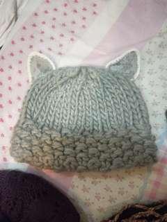 韓國購入貓咪耳朵毛線帽