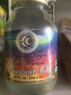 Earth Circle Organics, Organic Extra Virgin Coconut Oil 椰子油,有機,初榨,32oz