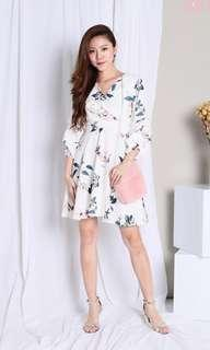 (P) Floral Print Dress